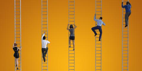 Climbing the Corporate Ladder 3D Model Render
