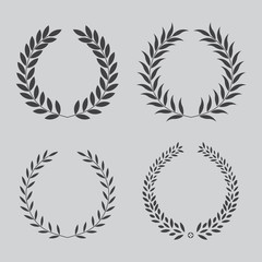 set icon laurel wreath