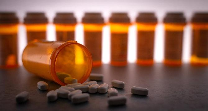 Scattered Prescription Medication