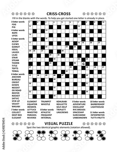 photo relating to Free Printable Word Fill in Puzzles referred to as Puzzle site with 2 puzzles: 19x19 criss-cross (kriss-kross