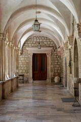 cloister in samostan monastery Dubrovnik, croatia