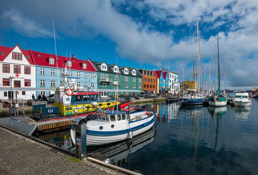 Vestaravag harbor in Torshavn