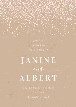 Elegant Rustic Craft Paper Wedding Invitation Template