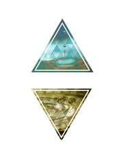 2 Dreiecke mit Tropfen