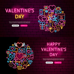 Happy Valentine's Day Website Banners