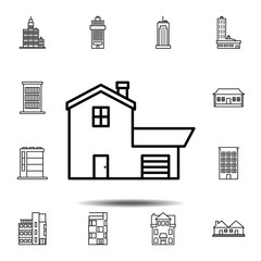 House outline icon. Simple outline vector element of Building icons set for UI and UX, website or mobile application
