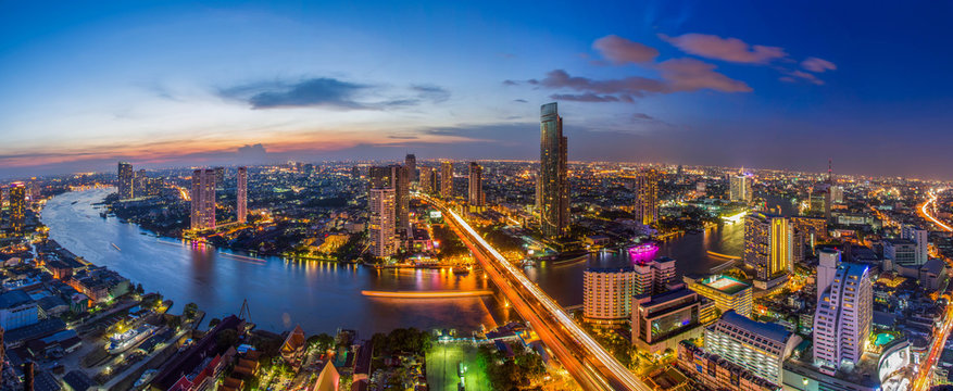 Bangkok city Chao Phraya River