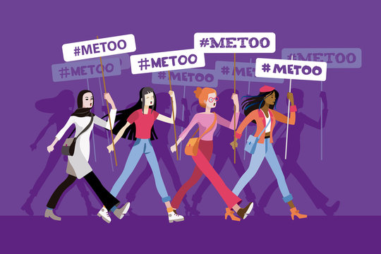 Women in a metoo march