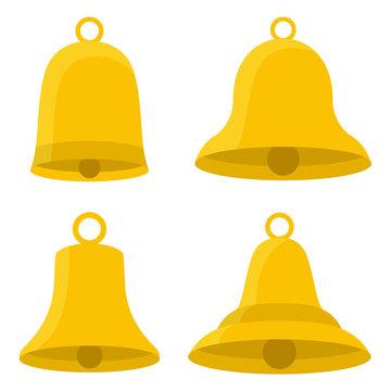 Set of bells vector design illustration