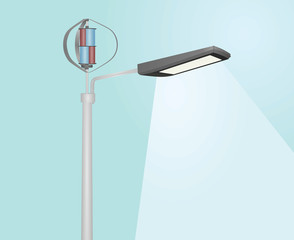 Wind energy street light. vector illustration