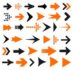 Set arrow icon. Different arrows sign – stock vector