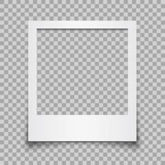Empty white photo frame - vector for stock