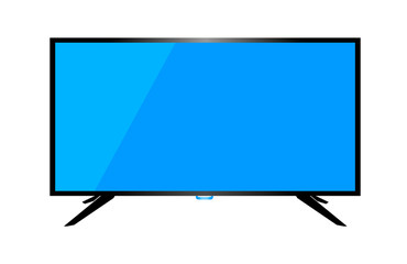 TV or monitor desktop computer isolated on a white background.