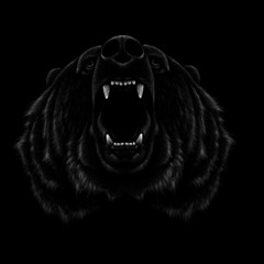 The Vector logo bear for T-shirt design or outwear.  Hunting style bear background.
