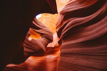 Amazing sandstone formations in Antelope Canyon, Arizona, USA