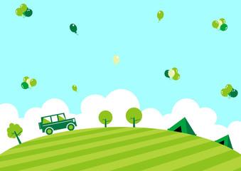 ドライブ キャンプ バルーン