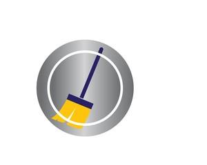 broom illustration vector template