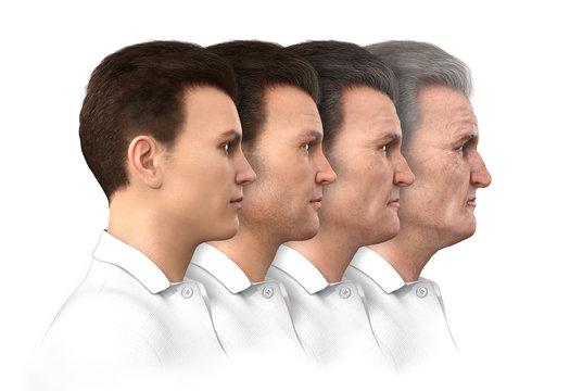 Male Age Progression - 20 to 80