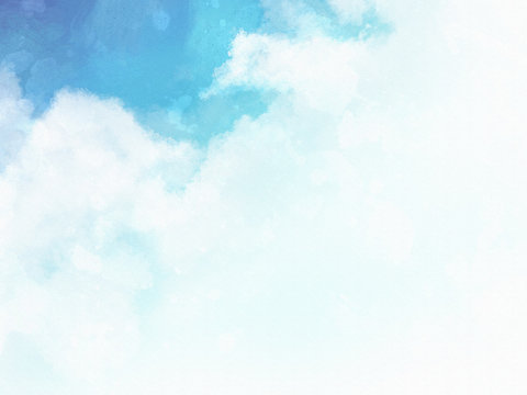 水彩 青空 イラスト