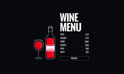 Choose Your Wine Menu Interface Design