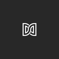 Two letters DD initials logo monogram, combination letters D and D mark infinity shape symbol