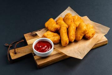 chicken nuggets with sauce Wall mural