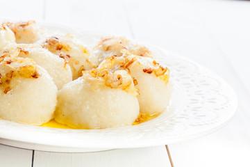 Potato dumplings stuffed with meat