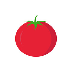 Tomato on white background for graphic and web design, Modern simple vector sign. Internet concept. Trendy symbol for website design web button or mobile app