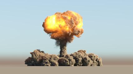 Atomic explosion Fototapete