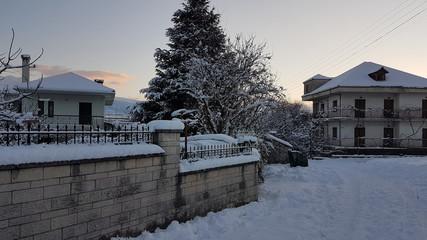 winter snow ice frost Ioannina greece