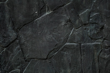 texture black stone background  for decoration work  and with space for text.
