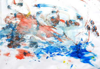 watercolor strokes at paper background