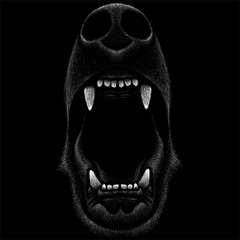 The Vector logo howling for T-shirt design or outwear.  Hunting style howling  background.