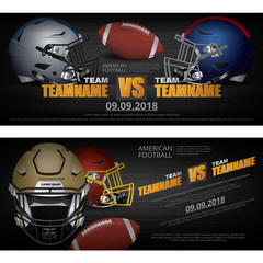2 Banner American football Design Vector Illustration