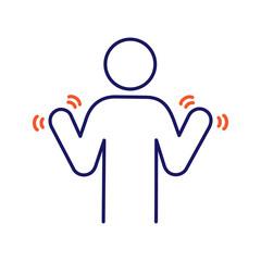 Hands tremor color icon