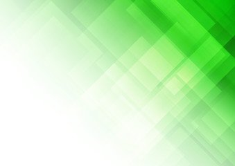 Abstract green background with square shapes