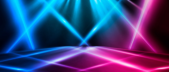 Abstract background with lines and glow