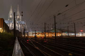 Köln Hauptbahnhof Dom Nacht