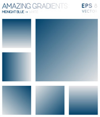 Colorful gradients in midnight blue, white color tones. Actual gradient background, attractive vector illustration.