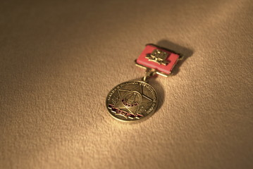 Rare medals of the Soviet Union.USSR, World War II.Gold
