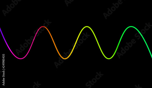 Colorful sound waves for party, DJ, pub, clubs, discos  Audio