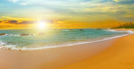 tropical panorama seychelles  island