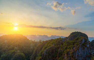 sunrise landscape tropical