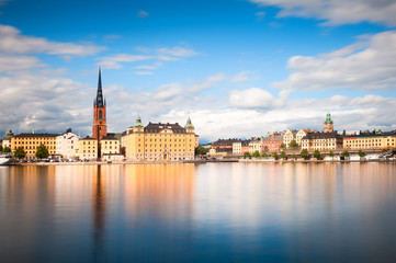 Panoramic view of the Old Town in Stockholm, Sweden