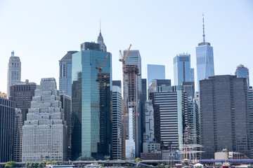 panoramic view of New york city skyline
