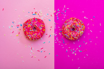 pink donuts background