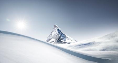 Matterhorn im Winter Wall mural