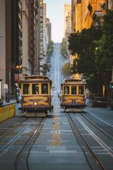 Canvas Prints San Francisco San Francisco Cable Cars on California Street, California, USA