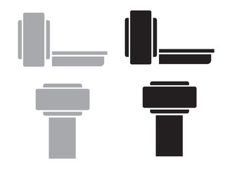 Medical MRI scanner diagnostic icons. Ct scan radiology vector icons