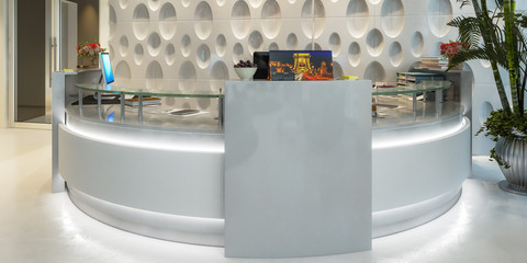 Modern Office Counter (panoramic view)